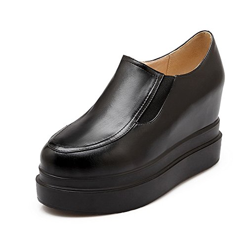 BalaMasa-American Buttom Muffin, piedi Imitated pompe-Scarpe in pelle Black