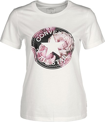 Converse Floral CP Fill Crew W T-Shirt white (Print-shirt Floral)