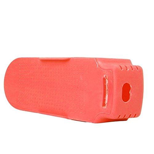 HCFKJ Multi-farbig Display Rack Schuhe Organizer Platzsparende Kunststoff Rack Storage (Rotes Elf Schuhe Tuch)