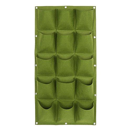 Verticali appeso fioriera da giardino verde piante pot borsa piantare parete in feltro per casa parete balcone outdoor indoor giardino alimentazione pouch(15 tasche)