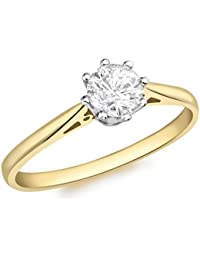 Aglaia (Gattung) 18 ct Gelb Gold 0,50 ct Diamant Solitaire Ring