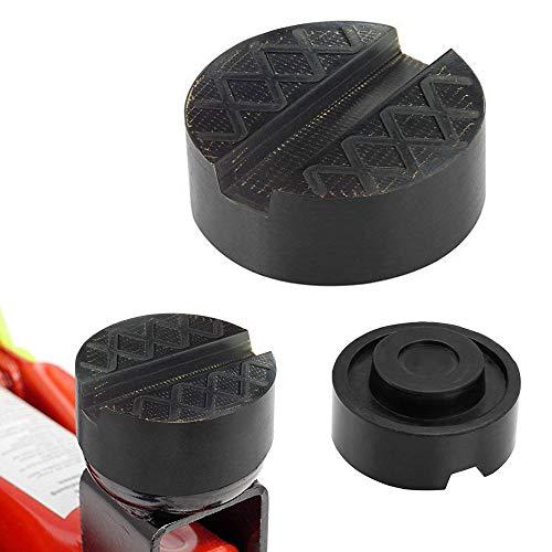 AODOOR Wagenheber Gummiauflage, Universelle Gummiauflage mit Nut für Wagenheber und Hebebühnen - Schützt Auto SUV vor Kratzern, 65mmX 25mm, Schwarz