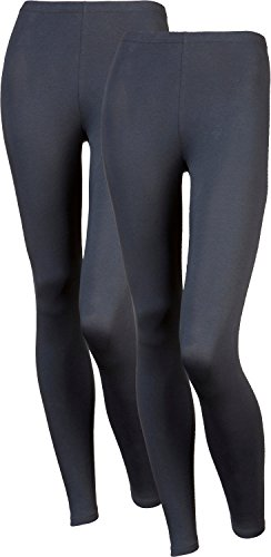 laritaM Unterhose, lang 2er-Pack Single-Jersey Graphit Größe 48