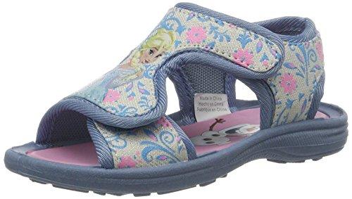 Die Eiskönigin Mädchen FZ003573 Offene Sandalen mit Keilabsatz, Blau (White Silver/L.Blue 298), 28 EU
