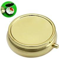 Dabixx Metall Runde Pillendosen DIY Medizin Veranstalter Container Medizin Fall Heiße Verkäufe Golden preisvergleich bei billige-tabletten.eu