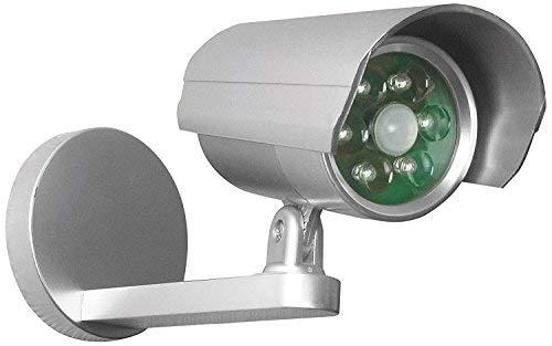 Nachahmung CCTV Kamera mit PIR Motion Sensor LED-Licht-ABS-Silber-Batteriebetrieben-Licht Leuchtet, Wenn Bewegung erkannt Wird, Bei Nacht