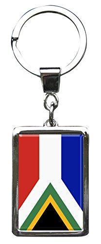 """Preisvergleich Produktbild Premium Schlüsselanhänger in Rechteck - Form """"Flagge Südafrika"""""""