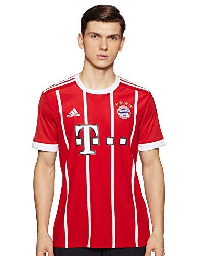 0b429a0be3285 adidas FC Bayern München Home Replica Jersey 2017/18 Camiseta, Hombre,  Rojo/Blanco, S