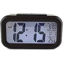Soytich Sveglia Sveglia Sveglia Digitale con Sensore notte (3019) - Nero