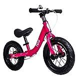 Laufräder 36cm (14 Zoll) großes Kind ohne Pedal mit Fahrradbremse with 4 5 6 7 8 Jahre altes Mädchen Boy Geburtstagsgeschenk (Color : Pink)
