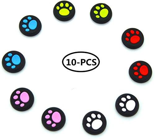 stillshine Silikon Daumenauflage Kappen Stick Schützen Cover für PS2, PS3, PS4, Xbox 360, Xbox One, Wii U Tablet Controller mehrfarbig 10pcs Rocker caps