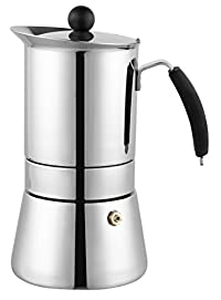 Cuisinox COF-8104 Amore Espresso Coffeemaker, 4 Cup, Stainless Steel