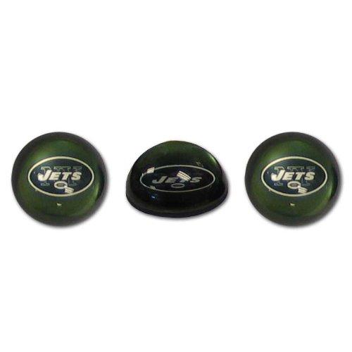 Siskiyou NFL New York Jets Kristall Magnet-Set, 3Stück Nfl-magnet-jets