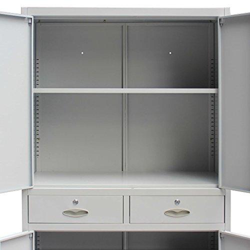 Festnight Metal Office Cabinet Filing Storage Stationary Cabinet