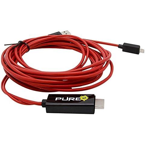 Pure 16000612 - Cable adaptador MHL Micro USB a HDMI para smartphones (Full HD, 1080p HDTV, equivalente a EIA2UHUN, 2 metros, 5 pin)