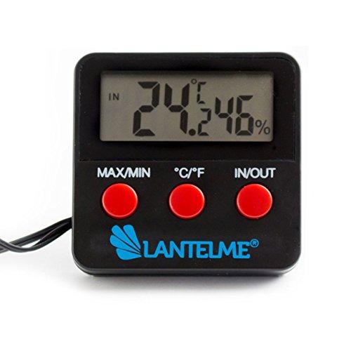 Digital MinMax Thermometer mit Außenfühler . Temperatur Anzeige Innen und Aussen