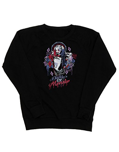 Suicide Squad Femme Harley Quinn Daddy's Lil Monster Sweat-Shirt Noir