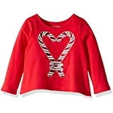 The Children's Place Baby Girls Long Sleeve Glitter Graphic Top