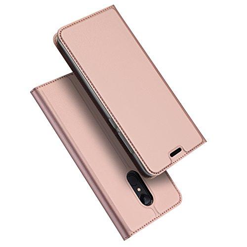 DUX DUCIS Xiaomi Redmi 5 Hülle, Skin Pro Series Ultra Slim Layered Dandy, Ständer, Magnetverschluss,TPU Bumper, Full Body Schutz für Xiaomi Redmi 5 (Rose Golden)
