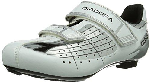 Diadora PHANTOM Unisex-Erwachsene Radsportschuhe - Rennrad Weiß (silber/weiß/schwarz 1573)