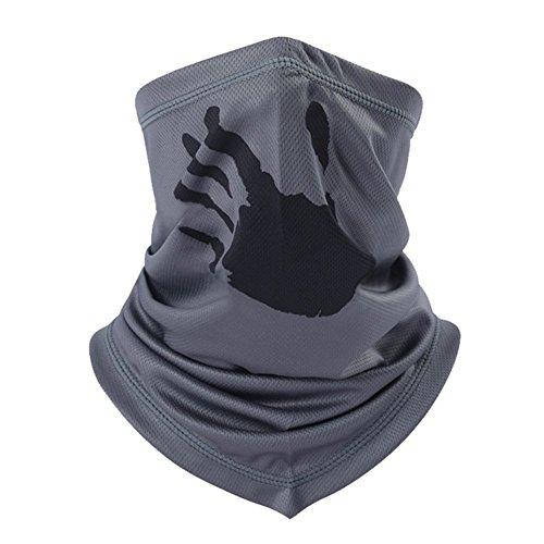 ITODA passamontagna maschera mezzo volto traspirante antivento maschera bandana leggero elasticizzato collo caldo velo sciarpa multiuso per moto escursioni bici caschetto da sci, A