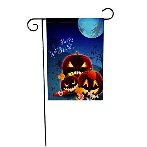 e kundenspezifische Kürbis-Halloween-wetterfeste Dekoration-Garten-Markierungsfahne 12x18 Zoll (D) (Beste Neue Halloween-dekorationen)