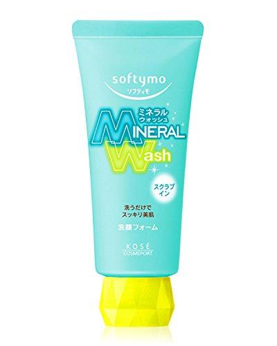 Kose Cosmeport Softymo Facial Washing Foam Mineral Wash Scrub in 130g