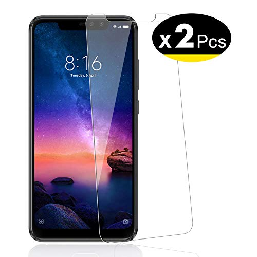 NEW'C Pack of 2, Screen protector for Xiaomi Redmi Note 6 Pro Tempered Glass Film