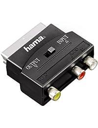 Hama 75122239 Adaptateur vidéo 3 RCA femelles 1 x Vidéo/Audio G/D Péritel mâle Noir