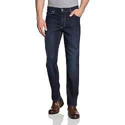 Mustang Herren Jeans Normaler Bund 111-5126 Tramper - Herrenjeans blaublack strechdenim - straightleg - slimfit, Gr. 44/34, Blau (old stone used 580)
