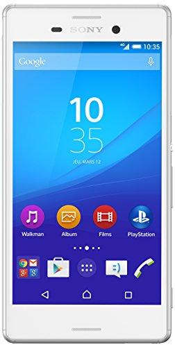 Sony Mobile Xperia M4 Aqua Smartphone débloqué 4G (Ecran: 5 pouces - 16 Go - Double Nano-SIM - Android 5.0 Lollipop) Blanc