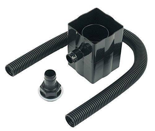 Schwarzer Regenwasserableiter, passt für runde und eckige Rohre
