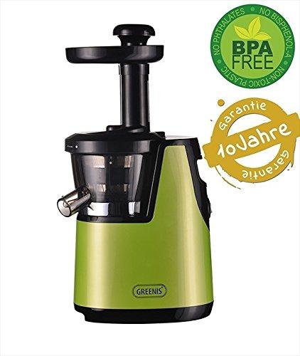 Preisvergleich Produktbild GREENIS Profi Entsafter Slow Juicer F-9010 Saftpresse (grün)