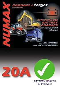 Numax Connect /& Forget 12V 20A HGV Plant Battery Charger 122000HD