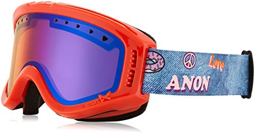 Anon Mädchen Tracker Snowboardbrille, Girl Power/Blue Amber