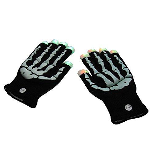LED Skelett Handschuhe,Knochen Handschuhe, leuchtende Handschuhe, blinkende Handschuhe , Halloween Handschuhe, Party - Halloween Skelett Party