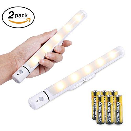 LED 5 ,PIR Bewegungssensor Batterie Powered (INKLUSIVE) Kabinett Beleuchtung, Firecore Drahtloses Licht für Kleiderschrank Schrank Treppe (Halloween Auto-dekorationen Uk)