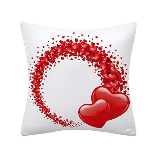 Watopi - Funda de cojín con diseño de corazón romántico, Estampado en 3D, diseño de Rosa de San...