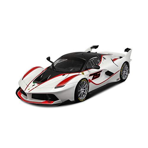 LINGLING Kinder Spielzeug Ferrari 1:24 FXXK Sportwagen Statische Legierung Automodell Simulation Ornamente ( Farbe : Weiß , größe : FXX K )