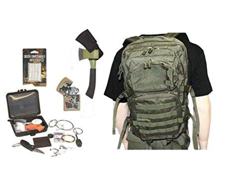 AOS-Outdoor Survival Set Trekking Outdoor Set oliv