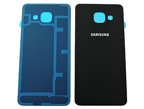 Original Samsung Akkudeckel black / schwarz für Samsung A310F Galaxy A3 (2016) - (Akkufachdeckel, Batterieabdeckung, Rückseite, Back-Cover) -