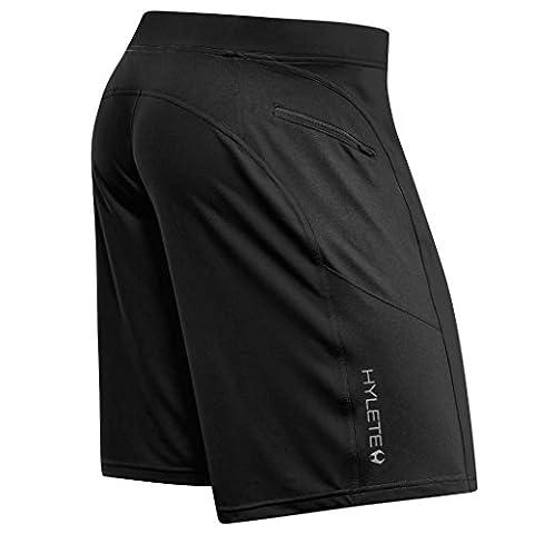 HYLETE Men's Helix II Shorts Zipper Cargo Pockets Stealth Black Large/Above Knee