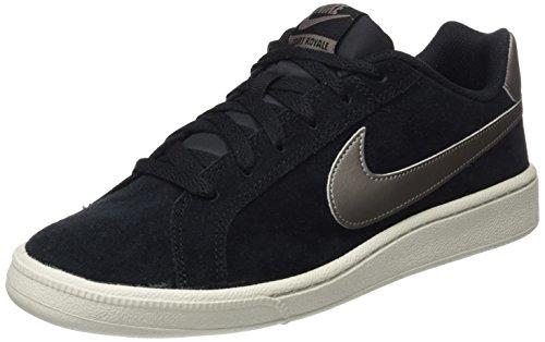 Bone Suede Schuhe (Nike Herren Court Royale Suede Sneaker, Schwarz (Black/mtlc Pewter/light Bone), 44 EU)