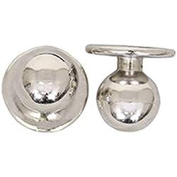 Botones de cocina color plata
