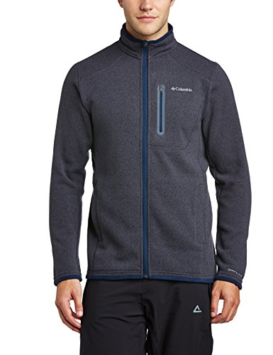 Columbia Altitude Aspect Full Zip Giacca in Pile, Blu(India Ink/Heather), M