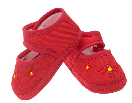BONAMART ® Baby Toddler Unisex Weiche Sohle Rutschfeste Schuhe Krabbelschuhe Pflaume rot