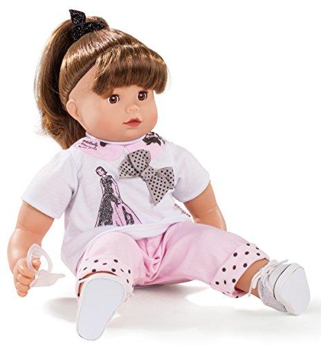 Götz 1627182 Maxy Muffin Ladies & Spots Puppe - 42 cm Babypuppe mit Zubehör, braunen Haaren, braune Schlafaugen und Weichkörper - ab 3 Jahren