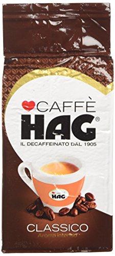 Hag - Caffè Macinato Decaffeinato Gusto Classico - Miscela Caffè per Moka - 16 Confezioni - Pacco da 250 gr