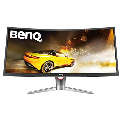 BenQ XR3501 35-Inch Curved LCD Gaming Monitor, 144Hz (2000R Curve, 21:9, 2000:1, 2560 x 1080, 4ms, HDMI, DP, miniDP) - Black/Glossy Black