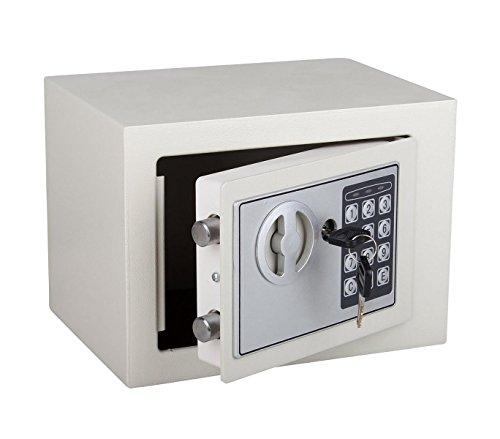MWS2277 Caja fuerte electrónica con funcionamiento a pilas 23 x 17 cm PLATEADO